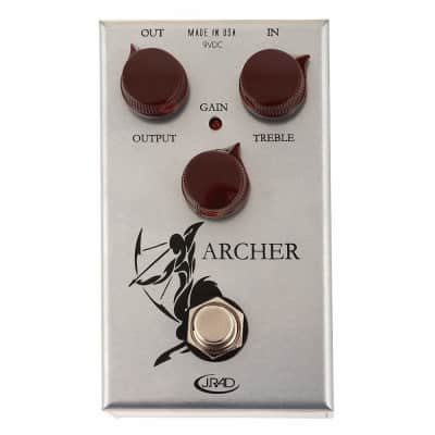 J. Rockett Audio Designs Tour Series Archer Overdrive and Boost Guitar Effects Pedal for sale