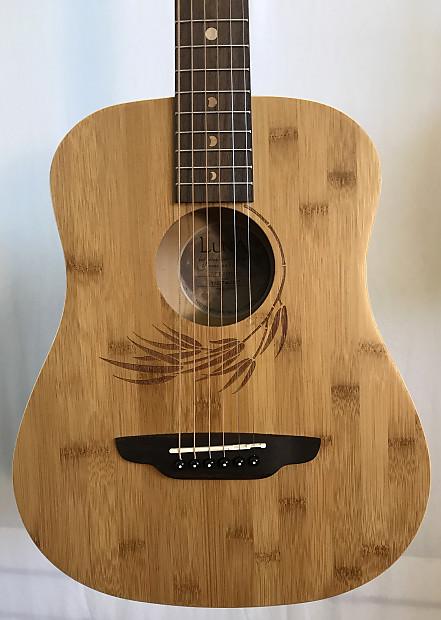 f506178af0 Luna SAF-BAMBOO Safari Bamboo 3/4 Scale Travel Guitar Natural with ...