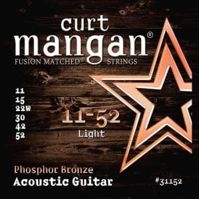 Curt Mangan Phosphor Bronze Acoustic Strings - 11-52 - QUICK SHIPPING