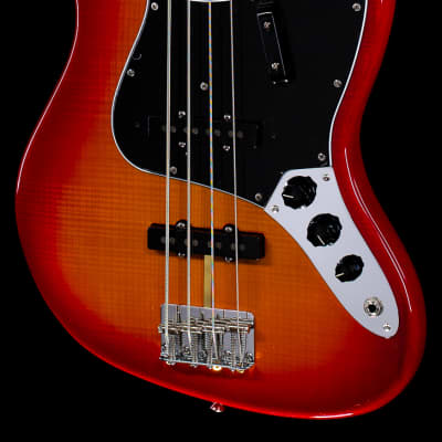 Fender Rarities Flame Ash Top Jazz Bass Plasma Red Burst (565)