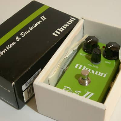 Maxon D&S II Reissue Overdrive with box 1998 Made in Japan