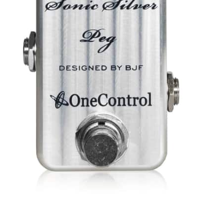 One Control Sonic Silver Peg Amp-In-A-Box Bass Pre-Amp Bass Guitar Effects Pedal for sale