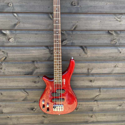 Shine 4 String Bass Guitar - Left Handed - Wine Red for sale
