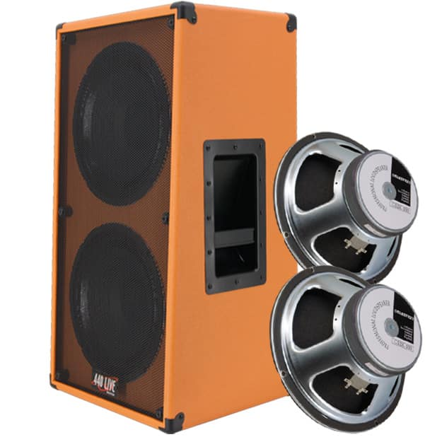 2x12 vertical guitar speaker cabinet 8 ohms orange tolex with reverb. Black Bedroom Furniture Sets. Home Design Ideas