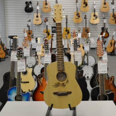 Luna Safari Bamboo Travel Guitar w/ Gigbag