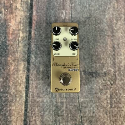 Used Pigtronix Philosopher's Tone Germanium Gold Micro Compressor Pedal with Box