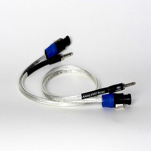 analysis plus silver oval speaker cable 2ft length reverb. Black Bedroom Furniture Sets. Home Design Ideas