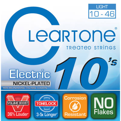 Cleartone .010-.046 Light Electric Guitar Strings