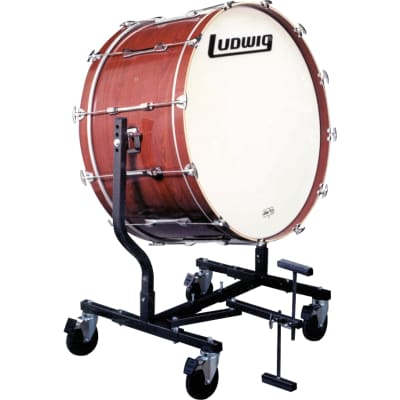 """Ludwig LECB32X7G 16x36"""" Mounted Concert Bass Drum with LE787 Stand"""