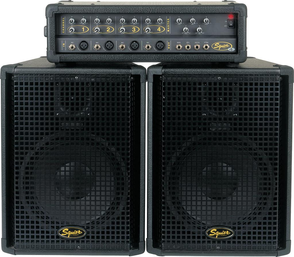 2932273 Fender Squier 4 Channel Pa System Black on Progressive Auto Insurance