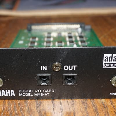 Yamaha MY8 AT 8-Channel Optical ADAT I/O Card 24 bit Made In Japan