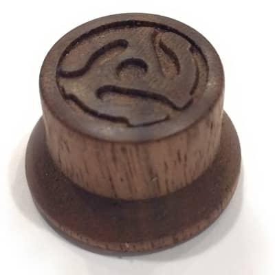 Custom Guitar Knobs -  Strat Style Carved Wood- Walnut