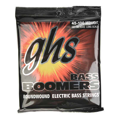 GHS ML3045 Bass Boomers 45-100 Long Scale