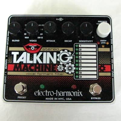 Used Electro-Harmonix EHX Stereo Talking Machine Vocal Formant Effects Pedal