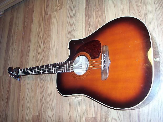 fender la brea acoustic electric guitar w case cable picks reverb. Black Bedroom Furniture Sets. Home Design Ideas