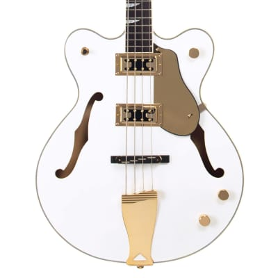 Eastwood Guitars Classic 4 Bass - White - Short Scale Semi-Hollow Body - NEW! - White