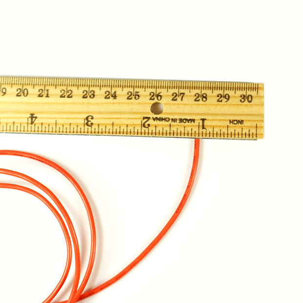 6-Foot Single conductor Shielded Guitar Circuit Wire ,Red | Reverb