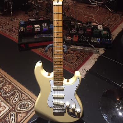 Fenix Stratocaster Radio Yellow Electric Guitar for sale