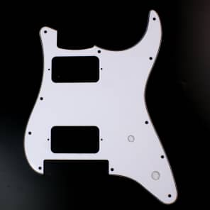 Replacment Guitar Pickguard for Charvel SO CAL ,3ply White