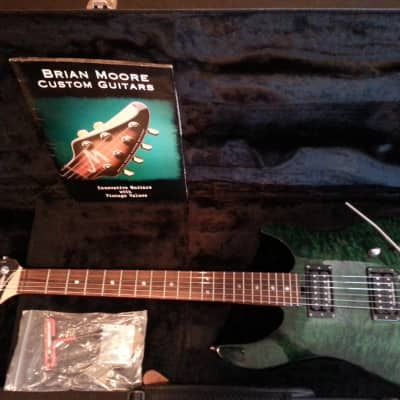 Brian Moore C55 Green Maple Burst for sale