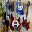 Sterling By Music Man StingRay Ray4HH Electric Bass Guitar in Candy Apple Red