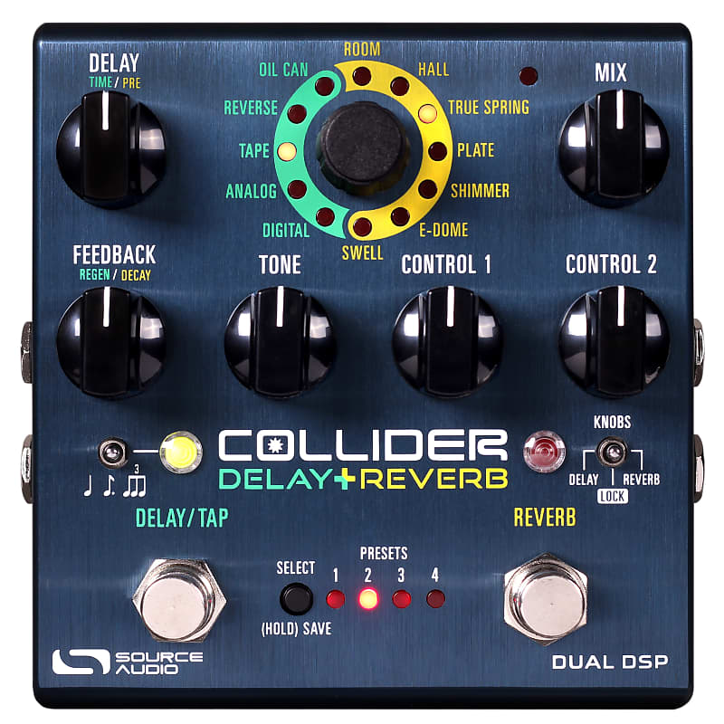 Source Audio SA263 One Series Collider Delay+Reverb Effects Pedal