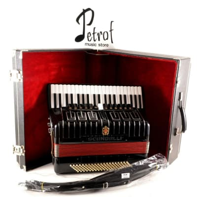 TOP Accordion Scandalli Polifonico XIV 120 Bass,19 sw.+Original Hard Case~Brand New Shoulder Straps