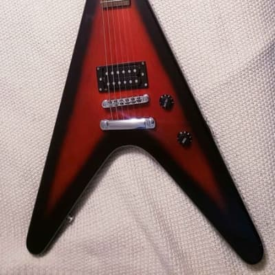 Mahar Flying V full size Electric Guitar  Red Black, extremely rare for sale