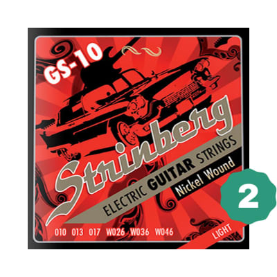 New Strinberg GS-10 Light Nickel Wound Electric Guitar Strings (2-PACK)