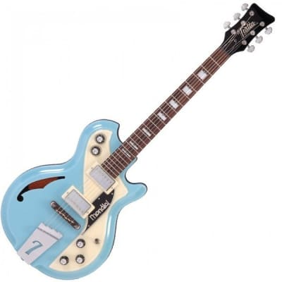 Italia Mondial Classic Electric Guitar Blue for sale