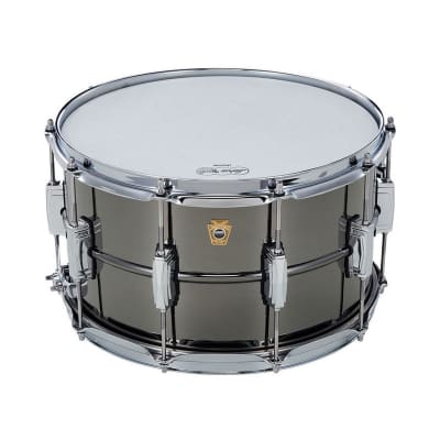 "Ludwig LB408 Black Beauty 8x14"" Brass Snare Drum"