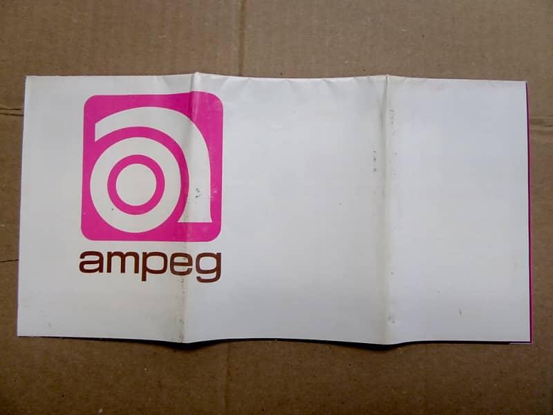 ampeg full line fold out brochure ultra rare 1968 1972 reverb