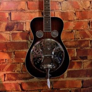 Recording King RR-50 Professional Roundneck Resonator Vintage Sunburst