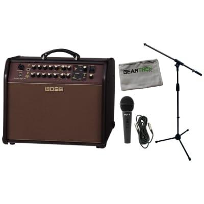 Boss ACS-PRO Acoustic Singer Pro Acoustic Amplifier Bundle w/Microphone