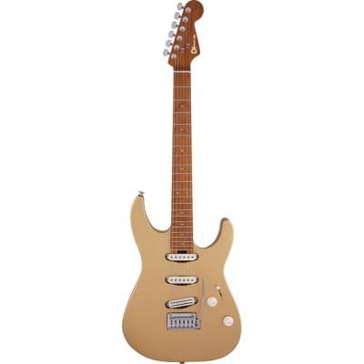 Charvel Pro-Mod DK22 SSS 2PT CM Guitar, Caramelized Maple, Pharaohs Gold