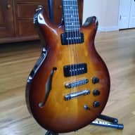 Hamer Artist Korina P90 Semi-Hollow Electric Guitar JazzBurst for sale