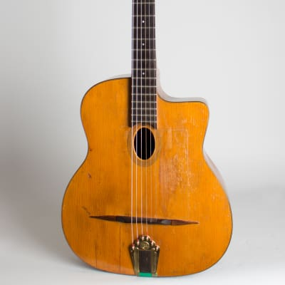 Busato  Petite Modele Gypsy Jazz Acoustic Guitar (1943), black hard shell case. for sale