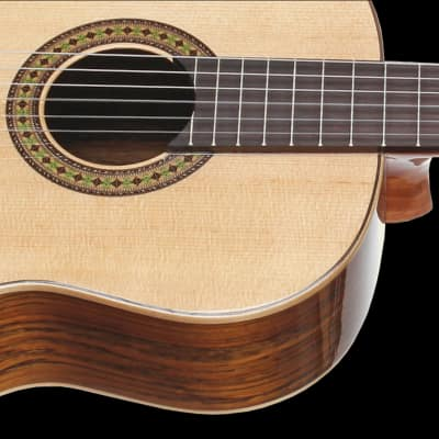 Teton STC110NT Classical Guitar & Hardshell Case Solid Spruce Top Ovangkol Back & Sides Gloss Finish for sale