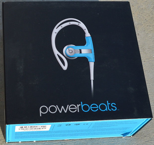 00ca568f56c Beats by Dre Powerbeats Ear-Hook Wired Headphones Neon Blue | Reverb