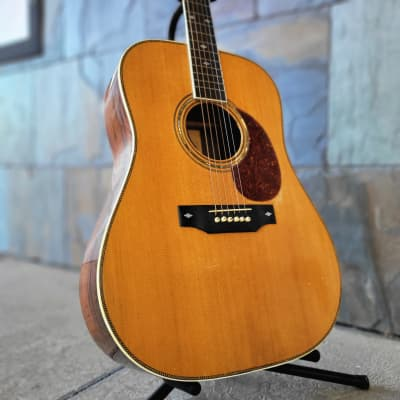 USED BC RICH B38 MID 70'S BRAZILLIAN DREAD ACOUSTIC GUITAR WITH LR BAGGS PICKUP for sale