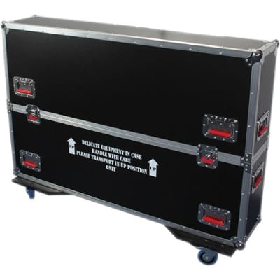 "Gator G-TOURLCDV2-6065-X2 G-Tour Dual 60-65"" LCD / Plasma Monitor ATA Road Case"