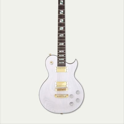 NEW ARIA PRO II - PE-LUX SEE THROUGH WHITE ELECTRIC GUITAR for sale