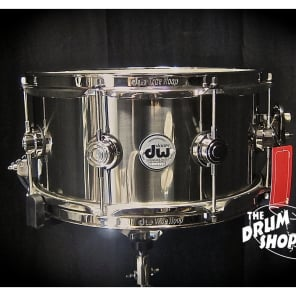 """DW DRVL6513SPK 6.5x13"""" Collector's Series Stainless Steel Snare Drum"""