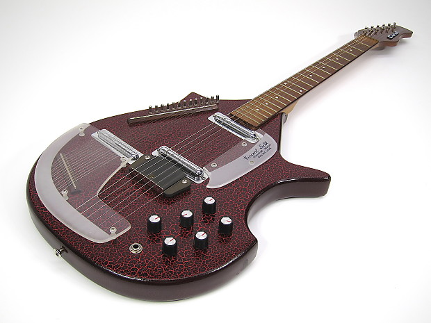 1967 danelectro coral electric sitar guitar mint red w tuning reverb. Black Bedroom Furniture Sets. Home Design Ideas