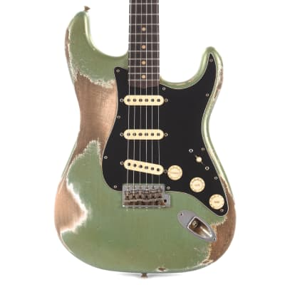 Fender Custom Shop 60s Stratocaster Heavy Relic Sage Green Metallic Master Built By Kyle McMillin (Serial #R93345) USED for sale
