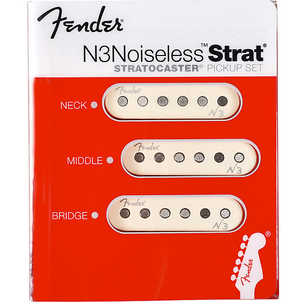 fender n3 noiseless strat pickups set (3 pickups)