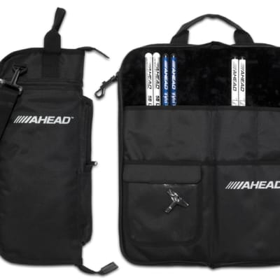 Ahead Bags - SB - Deluxe Stick Case (Black With Black Trim, Plush Interior)