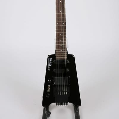 Displayed Hohner G3T LH Left Handed Lefty Electric Guitar Headless Black Small for sale