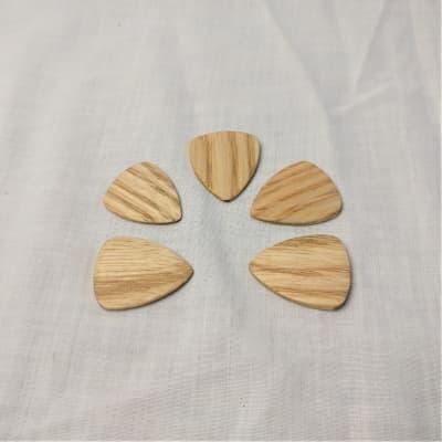 Handmade Solid Ash Picks, 3-Pack, Standard size, 3mm tapered sides