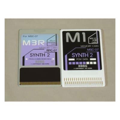 Korg M3R Synth 2 memory card RPC-07 & MSC-07 for M-3R